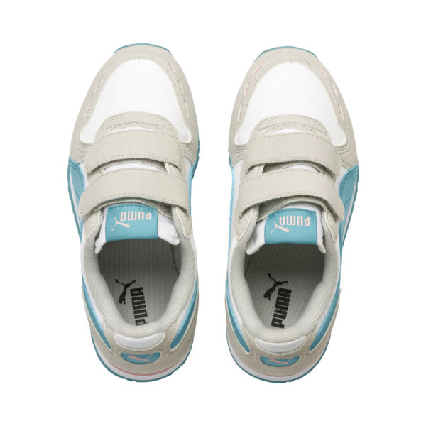Cabana Racer SL AC Little Kids' Shoes, Puma White-Milky Blue, large