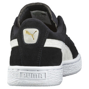 Thumbnail 4 of Suede Kinder Preschool Sneaker, Puma Black-Puma White, medium