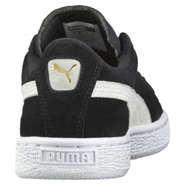 Suede Kinder Preschool Sneaker, Puma Black-Puma White, large