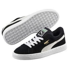 Thumbnail 2 of Suede Kinder Preschool Sneaker, Puma Black-Puma White, medium
