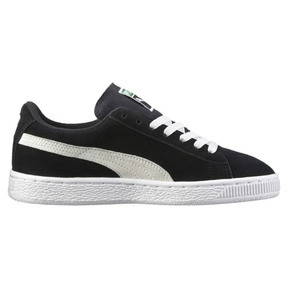 Thumbnail 3 of Suede Kinder Preschool Sneaker, Puma Black-Puma White, medium