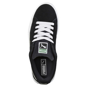 Thumbnail 5 of Suede Kids' Trainers, Puma Black-Puma White, medium