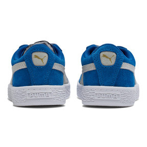 Thumbnail 4 of Suede Little Kids' Shoes, Snorkel Blue-Puma White, medium