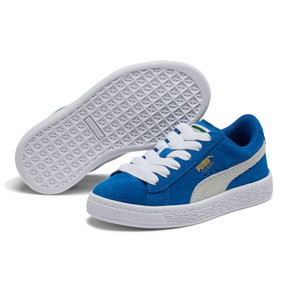 Thumbnail 2 of Suede Little Kids' Shoes, Snorkel Blue-Puma White, medium