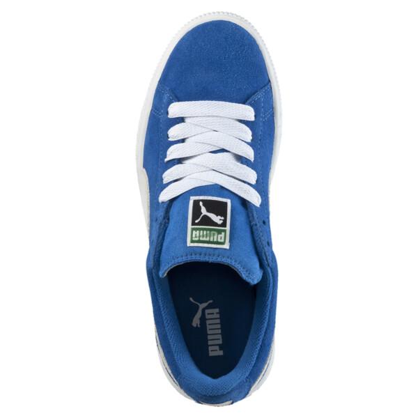 Suede Kids' Trainers, Snorkel Blue-Puma White, large