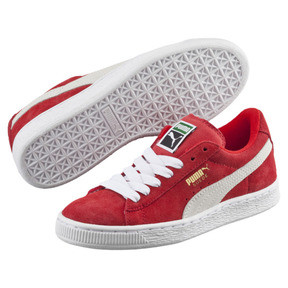 Thumbnail 2 of Suede Kids' Trainers, high risk red-white, medium