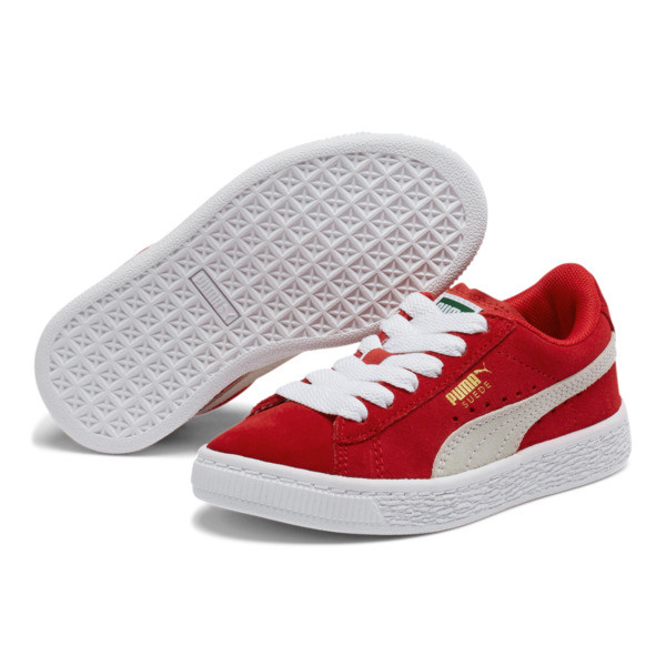 Suede Sneakers PS, high risk red-white, large