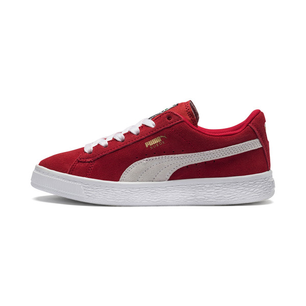 Suede sneakers voor kinderen, high risk red-white, large