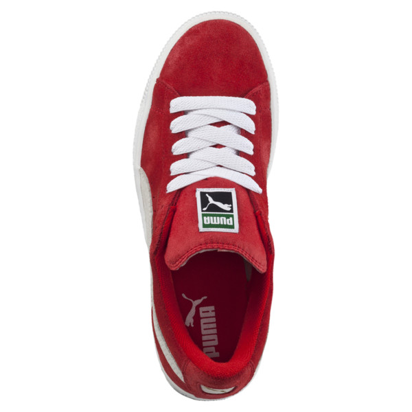Suede Kids' Trainers, high risk red-white, large