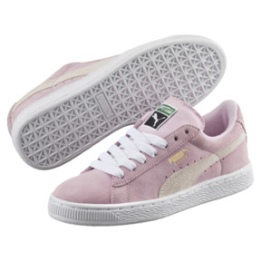 Thumbnail 2 of Suede Kids' Trainers, Pink Lady- White-P.T. Gold, medium