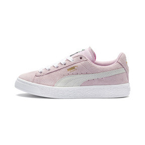 Thumbnail 1 of Suede Kids' Trainers, Pink Lady- White-P.T. Gold, medium