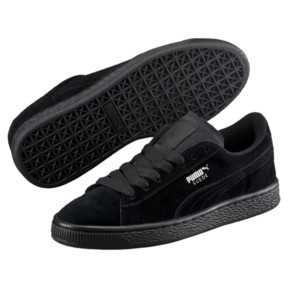 Thumbnail 2 of Suede Kids' Trainers, Puma Black-Puma Silver, medium