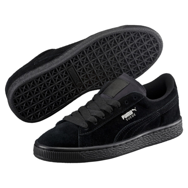Suede sneakers voor kinderen, Puma Black-Puma Silver, large