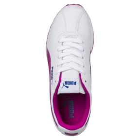 Thumbnail 5 of PUMA Turin JR Sneakers, Puma White-ULTRA MAGENTA, medium