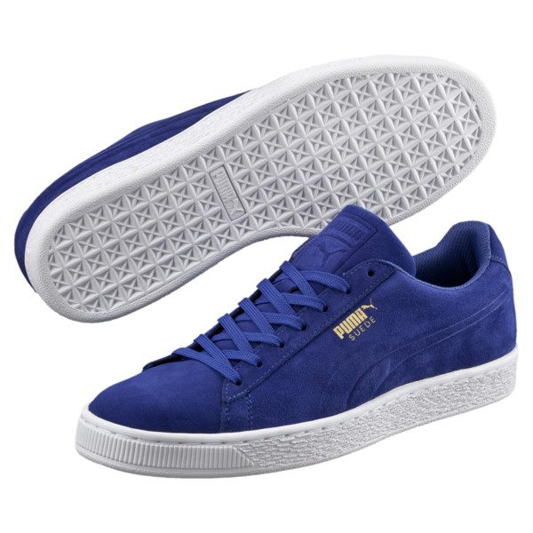 30b7d9ed1e4 Suede Classic Debossed Trainers, Mazarine Blue, large. ‹ ›