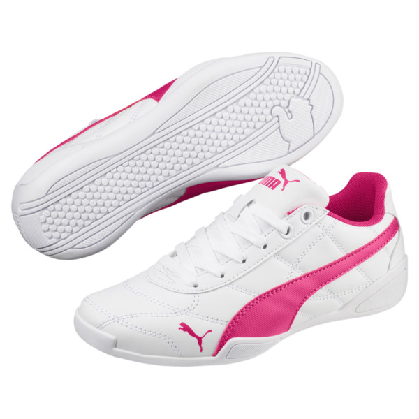 Tune Cat 3 Shoes JR, Puma White-Beetroot Purple, large