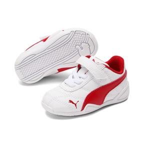 Thumbnail 2 of Tune Cat 3 AC Toddler Shoes, Puma White-Flame Scarlet, medium
