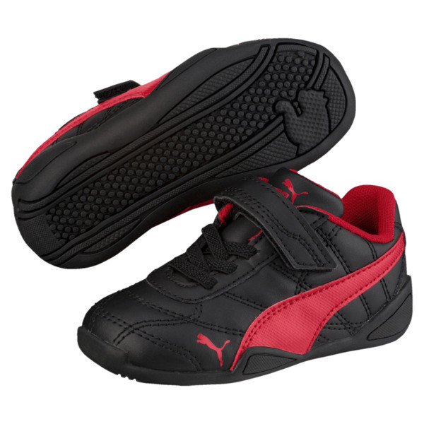 Tune Cat 3 AC Toddler Shoes, Puma Black-Ribbon Red, large