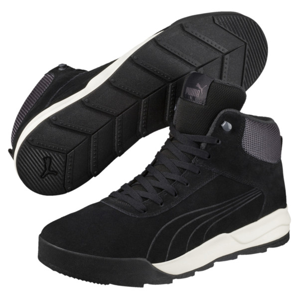 Desierto Trainer High Tops, Black-Black -Whisper White, large