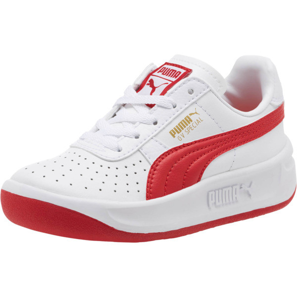 GV Special Little Kids' Shoes, Puma White-Ribbon Red, large