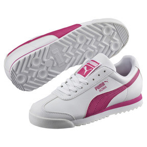 Thumbnail 2 of Roma Basic Sneakers PS, Puma White-Fuchsia Purple, medium