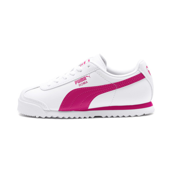Roma Basic Sneakers PS, Puma White-Fuchsia Purple, large