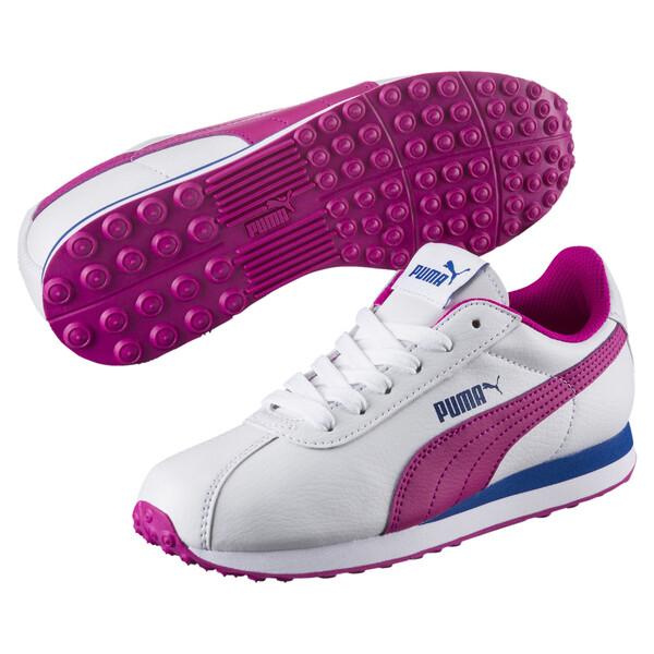 PUMA Turin Little Kids' Shoes, Puma White-ULTRA MAGENTA, large