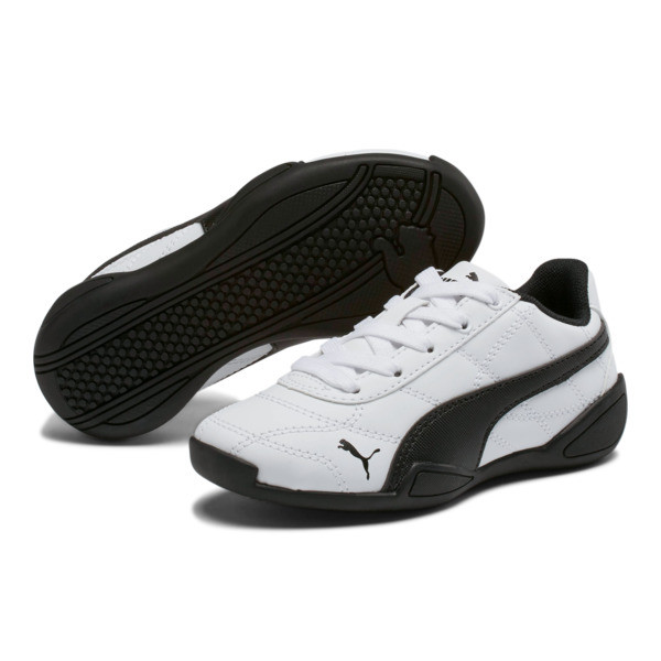 Tune Cat 3 Little Kids' Shoes, Puma White-Puma Black, large