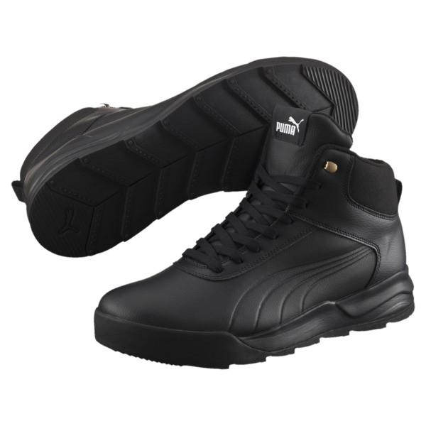 Desierto Trainer L High Tops, Puma Black-Puma Black, large