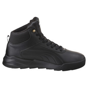 Thumbnail 3 of Desierto Trainer L High Tops, Puma Black-Puma Black, medium