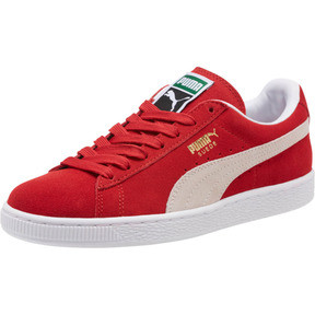 Thumbnail 1 of Suede Classic + Women's Sneakers, high risk red-white, medium