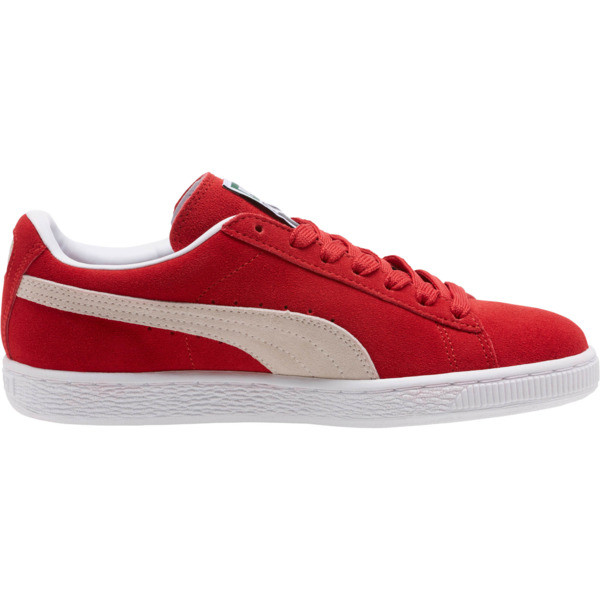 Suede Classic + Women's Sneakers, high risk red-white, large