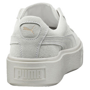 Thumbnail 4 of Suede Platform Gold Women's Sneakers, Gold-Star White-Puma White, medium