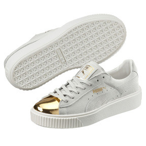 Thumbnail 2 of Suede Platform Gold Women's Sneakers, Gold-Star White-Puma White, medium