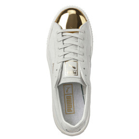 Thumbnail 5 of Suede Platform Gold Women's Sneakers, Gold-Star White-Puma White, medium
