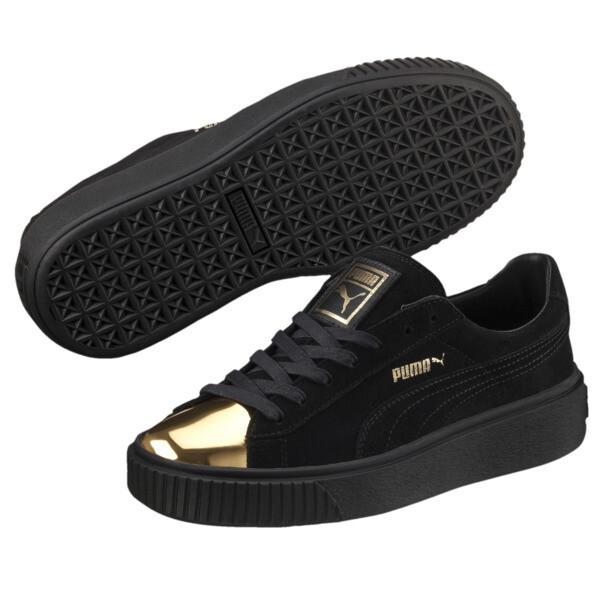 584d1c14cc Suede Platform Gold Women's Sneakers