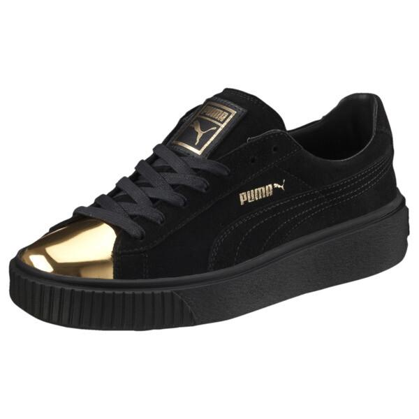 newest 40b87 234e4 Suede Platform Gold Women s Sneakers, Gold-Puma Black-Puma Black, large