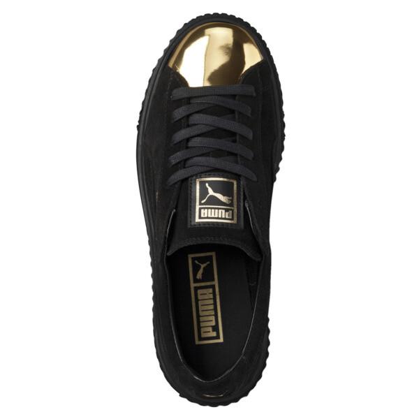 Suede Women's Sneakers Suede Platform Gold Platform Gold Women's Platform Suede Sneakers Gold ygfb76Y