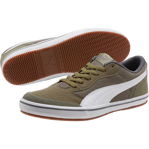 Astro Sala Men's Sneakers, Burnt Olive-Puma White, large