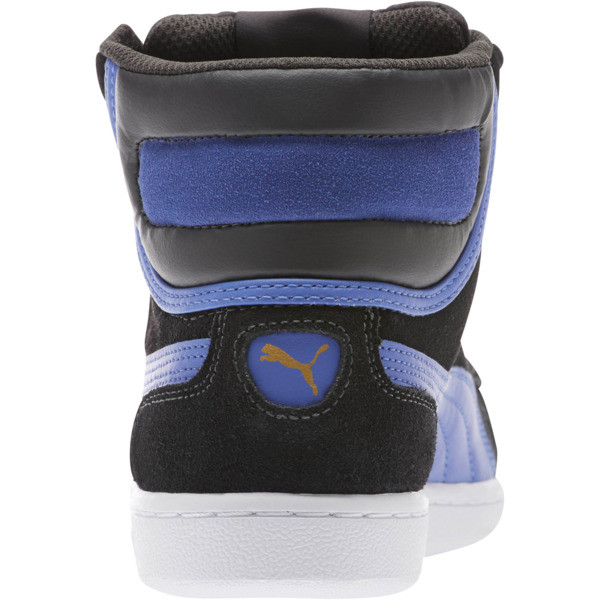 Vikky Mid Women's High Top Sneakers, Asphalt-Baja Blue, large