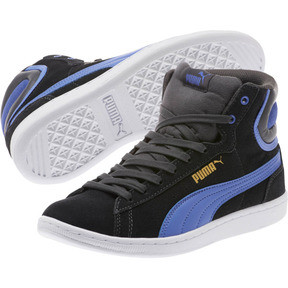 Thumbnail 2 of Vikky Mid Women's High Top Sneakers, Asphalt-Baja Blue, medium