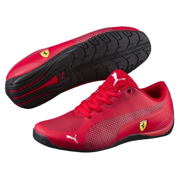 Ferrari Drift Cat 5 Ultra Kids' Trainers, Rosso Corsa-Puma White, large