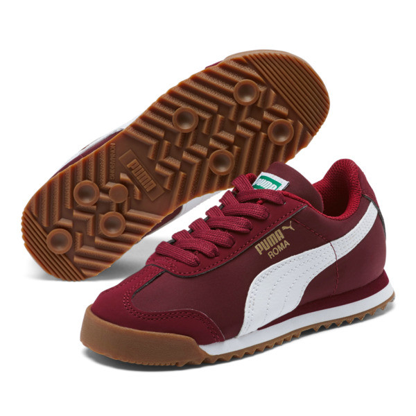 Zapatos Roma Basic Summer para niño pequeño, Rhubarb-Puma White, grande