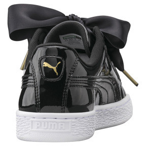 Thumbnail 3 of Basket Heart Patent Women's Trainers, Puma Black-Puma Black, medium