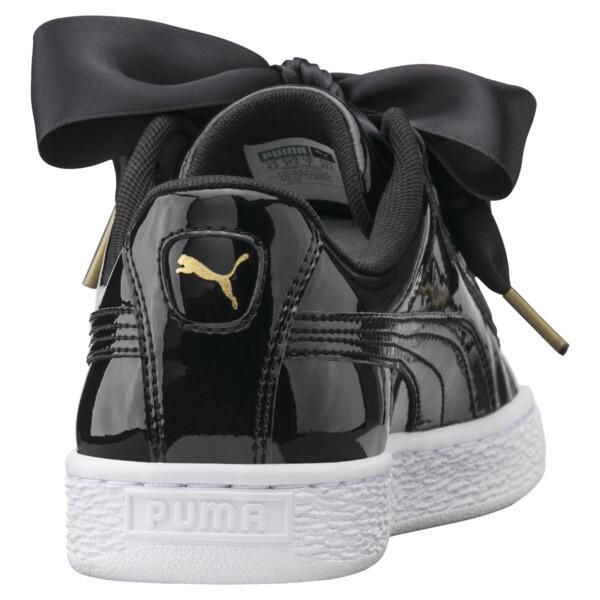 Basket Heart Patent Damen Sneaker, Puma Black-Puma Black, large