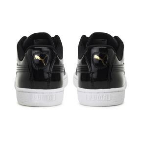 Thumbnail 4 of Basket Heart Patent Women's Sneakers, Puma Black-Puma Black, medium