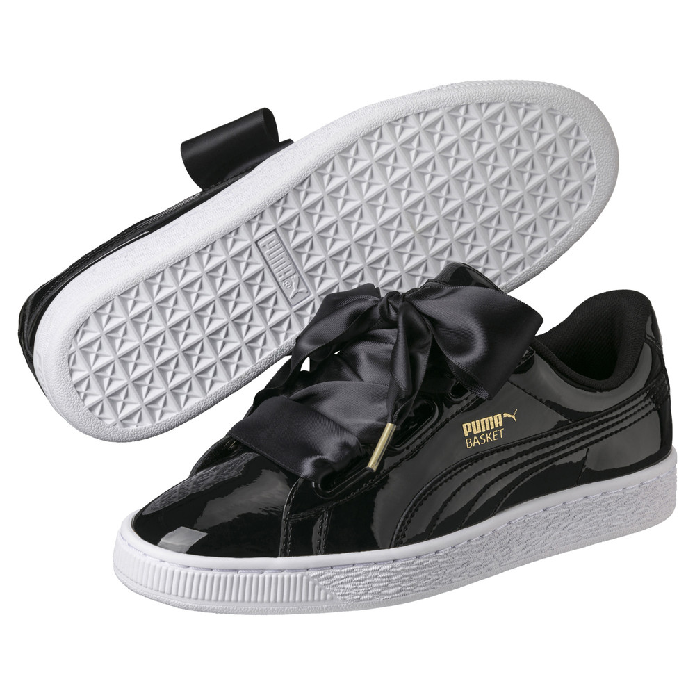 Image PUMA Basket Heart Patent Women's Sneakers #2