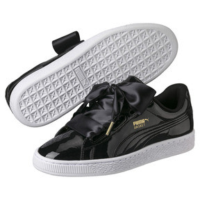 Thumbnail 2 of Basket Heart Patent Women's Trainers, Puma Black-Puma Black, medium
