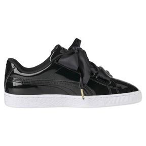 Thumbnail 2 of Basket Heart Patent Women's Sneakers, Puma Black-Puma Black, medium