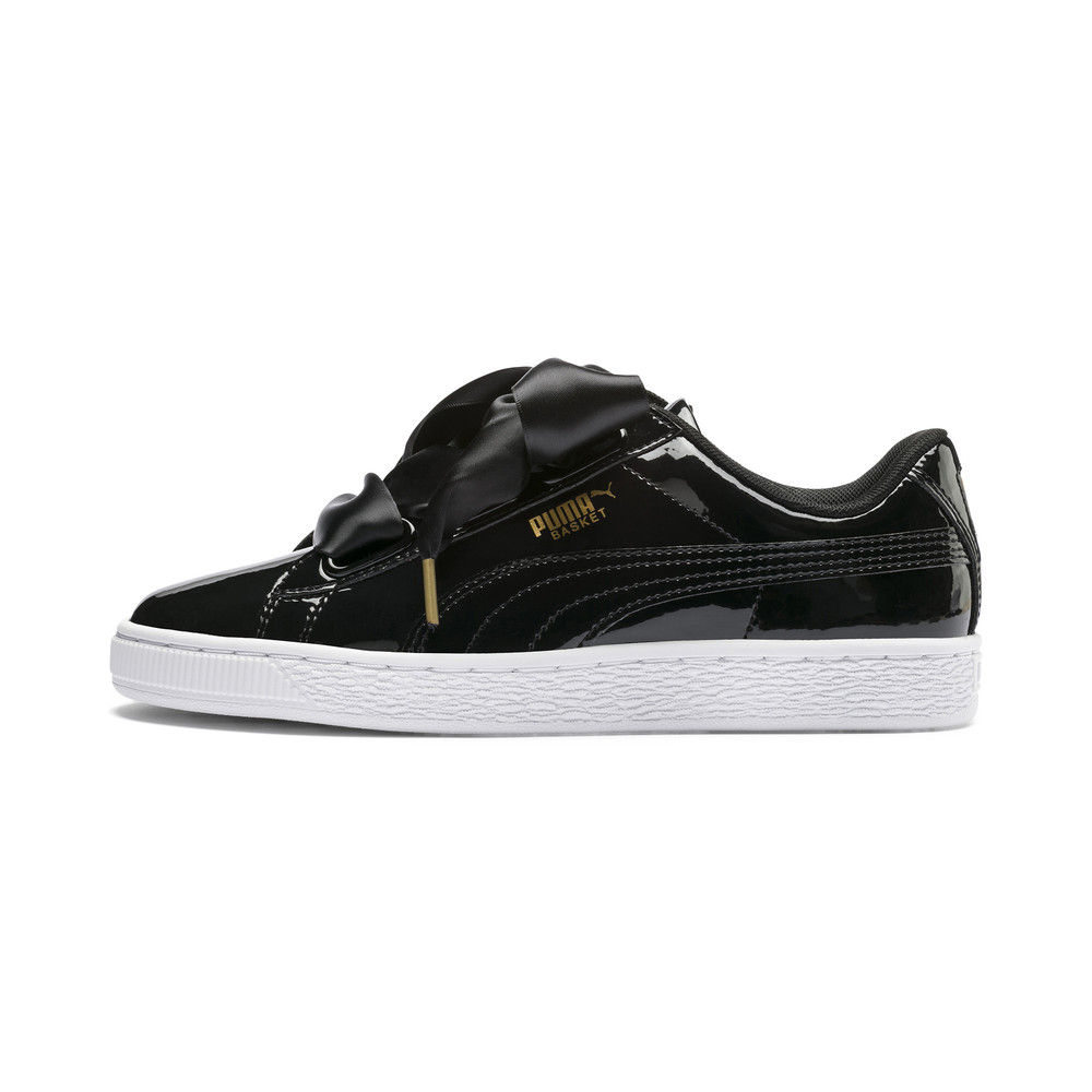 competitive price fb1b8 22e0f Basket Heart Patent Women's Sneakers | 10 - Black | Puma